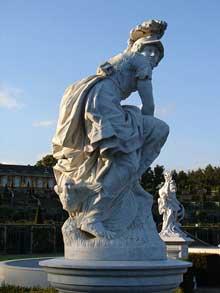 François Gaspard Balthazar Adam (1710-1761): Minerve. Parc du jardin de Sans Souci, Potsdam