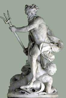 Lambert Sigisbert Adam (1700-1759): Neptune calmant les flots. 1733. Marbre, 895cm. Paris, musée du Louvre