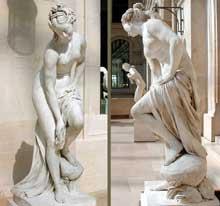 Christophe Gabriel Allegrain (21710-1795): Vénus au bain. Vers 1767. Marbre, 174 cm. Paris, Musée du Louvre