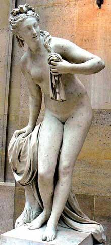 Christophe Gabriel Allegrain (21710-1795):Diane. 1778. Marbre. Paris, Musée du Louvre