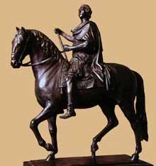 Edmé Bouchardon (1698-1762): statue équestre de LouisXV. 1748-1758. Bronze, 69 cm. Paris, Musée du Louvre