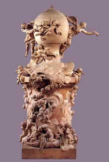 Clodion (1738-1814): l'invention du ballon par les Montgolfière. New York, Metropolitan Museum