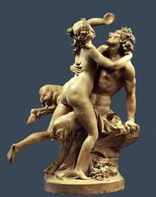 Clodion (1738-1814): Nymphe et Satyre 1780–90 Terre cuite 59,1 cm. New York, Metropolitan Museum