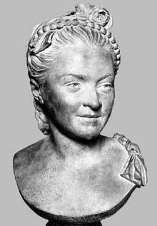 Jean Baptiste Defernex (1729-1783): Madame Favart. 1762. Terre cuite, 50 cm. Paris, Musée du Louvre