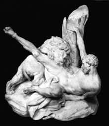 Etienne Maurice Falconnet (1716-1791): Milon de Crotone. 1754. Marbre, 66 cm. Paris, Musée du Louvre