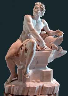 GuillaumeII Coustou (1715-1777): Vulcain. Paris, musée du Louvre.