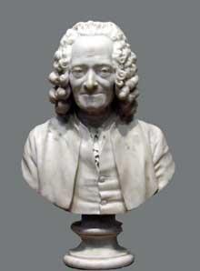 Jean-Antoine Houdon (1741 - 1828): buste de Voltaire, 1778