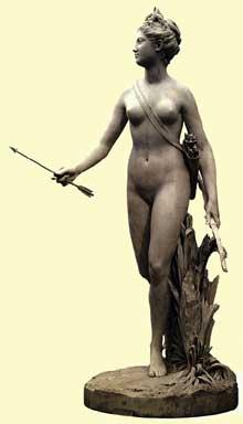 Jean Antoine Houdon (1741-1828): Diane. 16776. Lisbonne, Fondation Gulbenkian