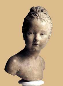 Jean Antoine Houdon (1741-1828): Buste de Louise Brongniart. 1777. Terre cuite, 35 cm. Paris, musée du Louvre