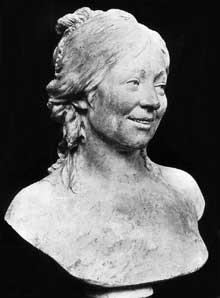 Jean Antoine Houdon (1741-1828): Buste de la femme de l'artiste. 1770. Marbre. Paris, musée du Louvre