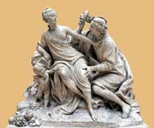 Jean BaptisteII Lemoyne (1704-1778): Vertumne et Pomone. Paris, Musée du Louvre
