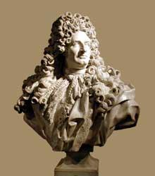 Jean Louis Lemoyne (1665-1755): Jules Hardouin-Mansart. 1703. Marbre, 110 cm. Paris, Musée du Louvre