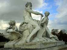 Nicolas Coustou (1658-1733): La Seine et la Marne. Versailles, parc du château