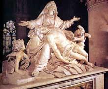 Nicolas Coustou (1658-1733): Pietà. 1712-1728. Marbre, 230 x 280 cm. Paris, Notre-Dame