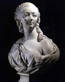 Augustin Pajou (1730-1809): buste de madame du Barry. 1773. Marbre, 60 cm. Paris, Musée du Louvre