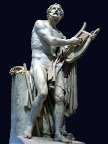 Philippe Laurent Roland (1746-1816: Homère. Marbre, musée du Louvre