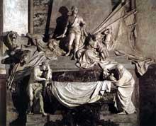 Jean Baptiste Pigalle (1714-1785): Mausolée du Maréchal de Saxe. 1753-1776. Marbre. Strasbourg. Temple saint Thomas
