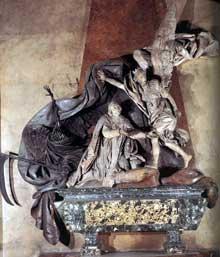 René Michel Slodtz (1705-1764): Monument funéraire de Languet de Gergy. 1753. Marbre. Paris, Saint-Sulpice
