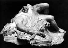 Paul-Ambroise Slodtz (1702-1758): la mort d'Icare. 1743. Marbre. Paris, musée du Louvre