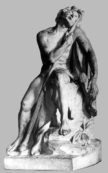 Louis Claude Vassé (1716-1772): berger endormi. 1751. Marbre, 71 cm. Paris, Musée du Louvre.