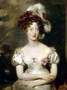 Sir Thomas Lawrence (1769-1830): Marie Caroline de Bourbon-Sicile (1798-1870), duchesse de Berry. 1825. Huile sur toile, Versailles, châteaux de Versailles et de Triano