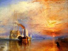 Joseph Mallord William Turner (1775-1851) : le dernier voyage du téméraire. 1839. Londres National Gallery