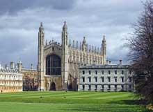 Cambridge: le King's College. Vue générale