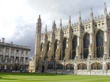 Cambridge : le King's College. La chapelle