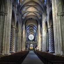 Durham: la cathédrale, la nef