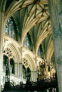 Ely, la cathédrale: un bas côté