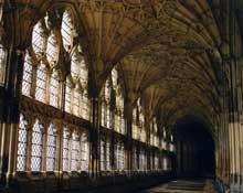 Gloucester: cathédrale saint Pierre et sainte Trinité: le cloître