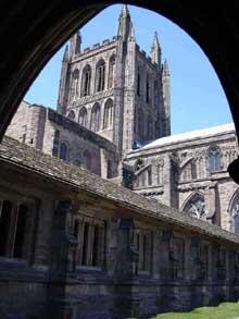 Hereford, la cathédrale: la tour de croisée