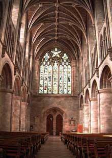 Hereford, la cathédrale: la nef centrale