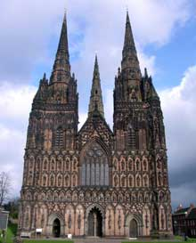 Lichfield, la cathédrale : le massif occidental