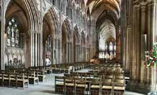 Lichfield, la cathédrale. Le vaisseau central
