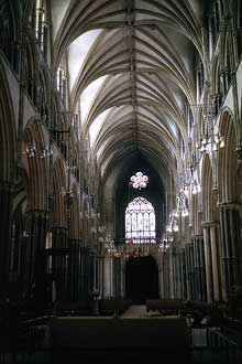 Lincoln, cathédrale : la nef