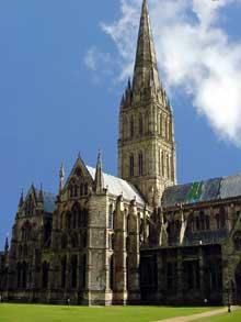 Oxford: la cathédrale ou Christ Church, édifiée aux XII-XVè et fortement modifiée au début du XVIè. (Histoire de l'art - Quattrocento