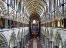 Salisbury: la cathédrale: la nef