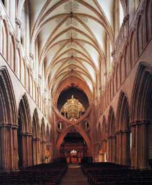 Cathédrale de Wells: voûte du chœur