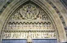 Abbaye de Westminster: le tympan du transept sud