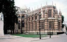 Abbaye de Westminster: la chapelle de Henri VII vue de l'extérieur. (Histoire de l'art - Quattrocento