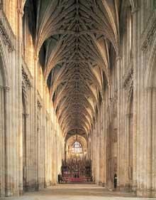 Winchester: la cathédrale. La nef
