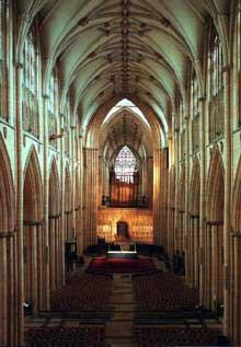 York: la cathédrale. La nef