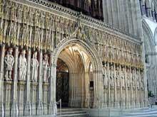 York: la cathédrale. Intérieur de la nef