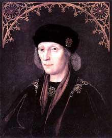 HenryVII, le premier Tudor roi d'Angleterre: 1485-1509. Portrait d'un artiste inconnu. (Histoire de l'art - Quattrocento