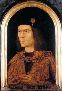 RichardIII: portrait du roi. Château de Windsor. Artiste inconnu. (Histoire de l'art - Quattrocento