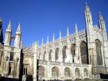 Cambridge : la chapelle du Kings College. (Histoire de l'art - Quattrocento
