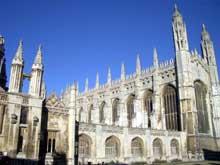 Cambridge: la chapelle du Kings College. (Histoire de l'art - Quattrocento