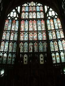 Cathédrale de Gloucester: vitraux. (Histoire de l'art - Quattrocento