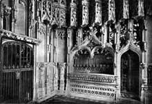 Ely, cathédrale: «Chantry chapel» de l'évêque John Alcock. Vers 1500. L'intérieur de la chapelle. (Histoire de l'art - Quattrocento
